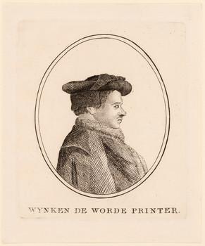 Porträt Wynkyn de Worde ( - 1535).