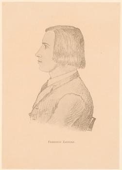 Porträt Friedrich Zarncke (1825 - 1891).