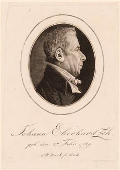 Porträt Johann Eberhard Zeh (1739 - 1807).