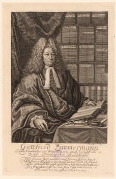 Porträt Gottfried Zimmermann (1670 - 1723).
