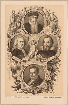 Illustration mit 4 Bildnissen.