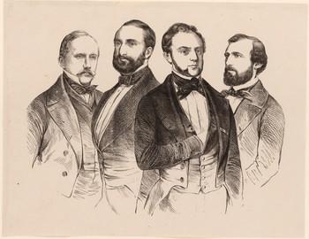 Die Führer der demokratischen und der preußischen Partei in den sächsischen Kammern von 1850.