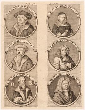 Porträttafel: Wittenberger Buchdrucker.