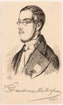 Porträt Evarist van Maldeghem (1808 - 1875).