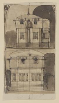 Villenkolonie Westend, Posen: Entwurfszeichnung für eine Villa