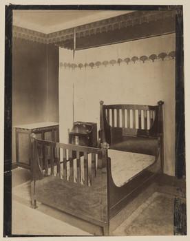 Haus Glückert, Darmstadt: Großes Schlafzimmer nach dem Entwurf von Patriz Huber