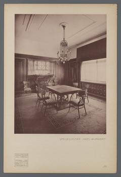 Haus Glückert, Darmstadt: Speisezimmer (Blatt III.46 aus den Wasmuth-Mappen, Verlag Ernst Wasmuth, Berlin)