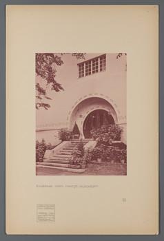Haus Glückert, Darmstadt: Eingang (Blatt 57 aus den Wasmuth-Mappen, Bd. 1, Verlag Ernst Wasmuth, Berlin)