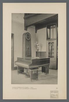 Mand-Olbrich-Flügel in der Halle des Hauses Glückert, Darmstadt  (Blatt 80 aus den Wasmuth-Mappen, Verlag Ernst Wasmuth, Berlin)