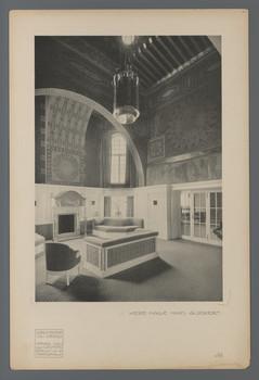 Haus Glückert, Darmstadt: Neue Halle  (Blatt III.40 aus den Wasmuth-Mappen, Verlag Ernst Wasmuth, Berlin)