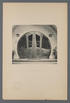 Haus Glückert, Darmstadt: Eingangstür (Blatt 58 aus den Wasmuth-Mappen, Bd. 1, Verlag Ernst Wasmuth, Berlin)