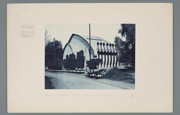 Darmstadt, Mathildenhöhe: Halle für Malerei und Plastik, rückwärtige Fassade (Blatt 46 aus den Wasmuth-Mappen, Bd. 1, Verlag Ernst Wasmuth, Berlin)
