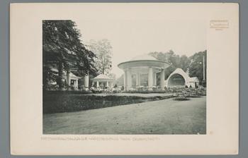 Darmstadt, Mathildenhöhe: Restaurantanlage Ausstellung 1904 (Blatt 60 aus den Wasmuth-Mappen, Bd. 2 A, Verlag Ernst Wasmuth, Berlin)