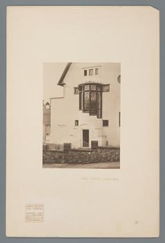 Darmstadt, Mathildenhöhe: Haus Keller, Eingangssituation (Blatt 51 aus den Wasmuth-Mappen, Bd. 1, Verlag Ernst Wasmuth, Berlin)