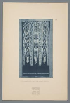 Haus Olbrich, Darmstadt: Vorhangteil aus der Halle (Blatt 69 aus den Wasmuth-Mappen, Bd. 1, Verlag Ernst Wasmuth, Berlin)