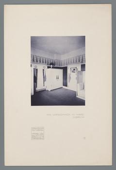 Haus Olbrich, Darmstadt: Wohnzimmer (Blatt 7 aus den Wasmuth-Mappen, Bd. 1, Verlag Ernst Wasmuth, Berlin)