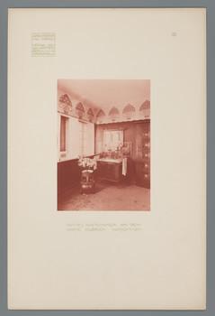 Haus Olbrich, Darmstadt: Rotes Gastzimmer (Blatt 9 aus den Wasmuth-Mappen, Bd. 1, Verlag Ernst Wasmuth, Berlin)