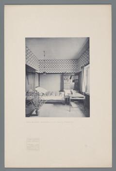 Haus Olbrich, Darmstadt: Blaues Gastzimmer (Blatt 49 aus den Wasmuth-Mappen, Bd. 1, Verlag Ernst Wasmuth, Berlin)