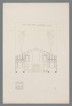 Haus Olbrich, Darmstadt: Halle, Kaminseite (Blatt 30 aus den Wasmuth-Mappen, Bd. 1, Verlag Ernst Wasmuth, Berlin)