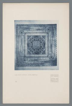 Haus Olbrich, Darmstadt: Vorraumteppich (Blatt 78 aus den Wasmuth-Mappen, Bd. 2, Verlag Ernst Wasmuth, Berlin)