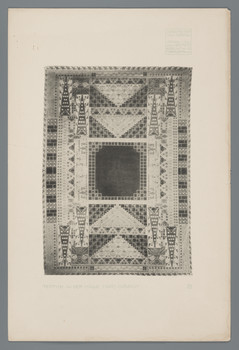 Haus Olbrich, Darmstadt: Teppich in der Halle (Blatt 77 aus den Wasmuth-Mappen, Bd. 2, Verlag Ernst Wasmuth, Berlin)