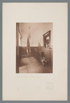 Haus Olbrich, Darmstadt: Vorraum (Blatt 43 aus den Wasmuth-Mappen, Bd. 1, Verlag Ernst Wasmuth, Berlin)