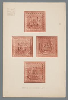 Haus Olbrich, Darmstadt: Details vom Goldenen Stuhl (Blatt 133 aus den Wasmuth-Mappen, Bd. 2, Verlag Ernst Wasmuth, Berlin)