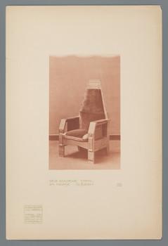 Haus Olbrich, Darmstadt: Der Goldene Stuhl (Blatt 132 aus den Wasmuth-Mappen, Bd. 2, Verlag Ernst Wasmuth, Berlin)