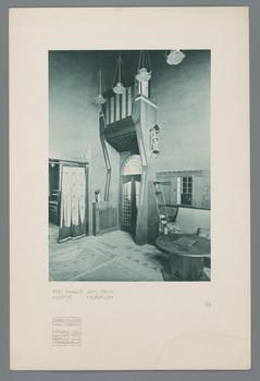 Haus Olbrich, Darmstadt: Halle (Blatt 25 aus den Wasmuth-Mappen, Bd. 1, Verlag Ernst Wasmuth, Berlin)