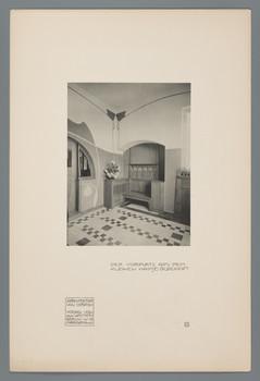 Kleines Haus Glückert, Darmstadt: Vorplatz (Blatt 23 aus den Wasmuth-Mappen, Bd. 1, Verlag Ernst Wasmuth, Berlin)