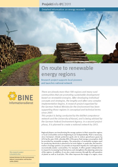 On route to renewable energy regions. Research project supports local pioneers and launches national network.