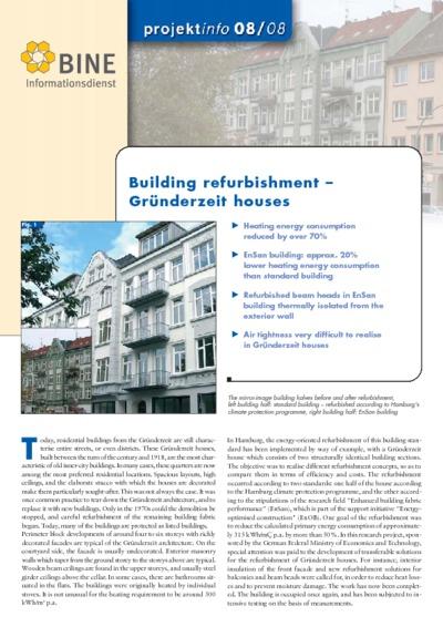 Building refurbishment - Gründerzeit houses.