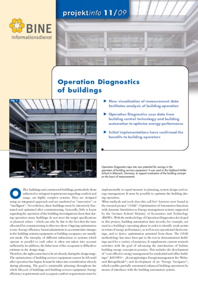 Operation Diagnostics of buildings.