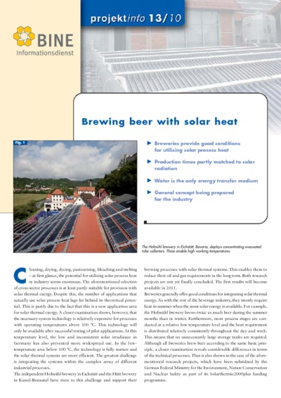 Brewing beer with solar heat.