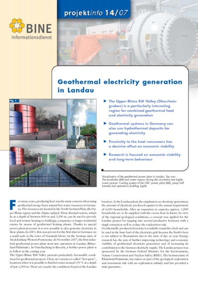 Geothermal electricity generation in Landau.