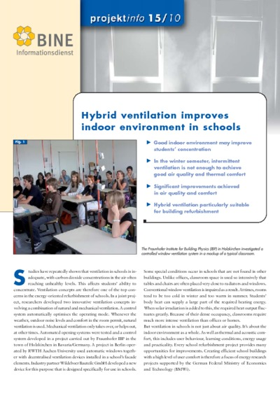 Hybrid ventilation for a better learning.