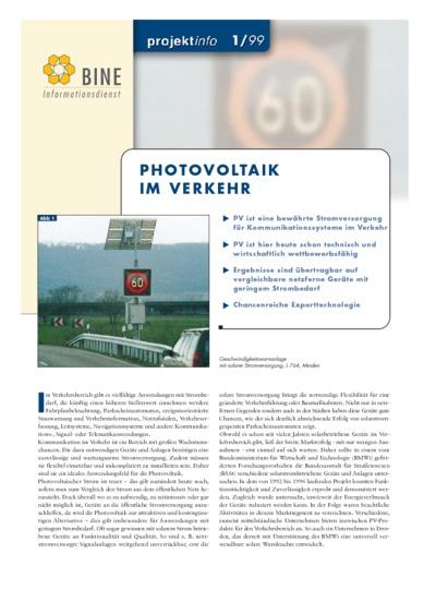 Photovoltaik im Verkehr.