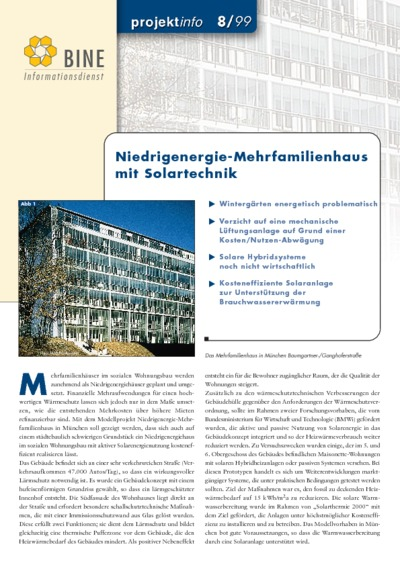 Niedrigenergie-Mehrfamilienhaus mit Solartechnik.