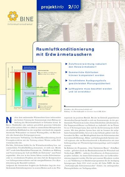 Raumluftkonditionierung mit Erdwärmetauschern.