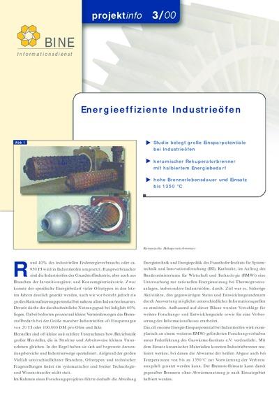 Energieeffiziente Industrieöfen.