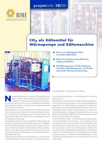 CO2 als Kältemittel für Wärmepumpe und Kältemaschine.