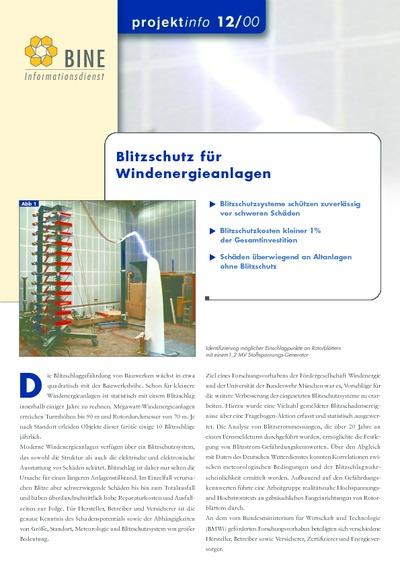 Blitzschutz für Windenergieanlagen.
