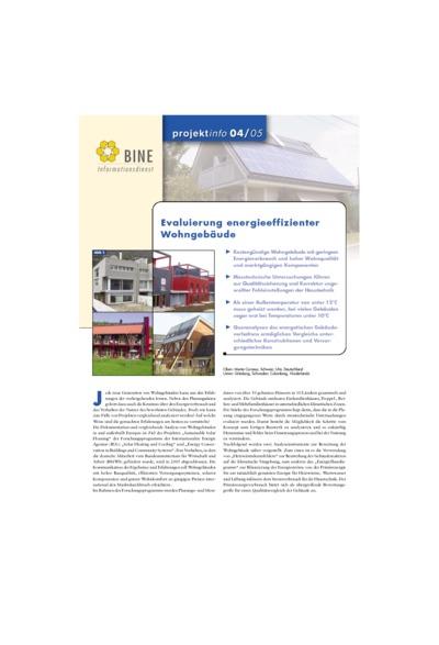 Evaluierung energieeffizienter Wohngebäude.