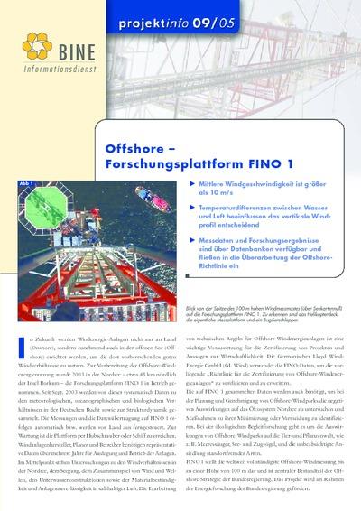 Offshore - Forschungsplattform FINO 1.