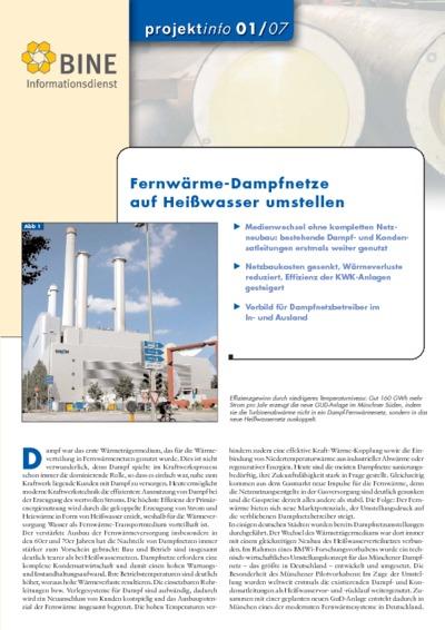Fernwärme-Dampfnetze auf Heißwasser umstellen.