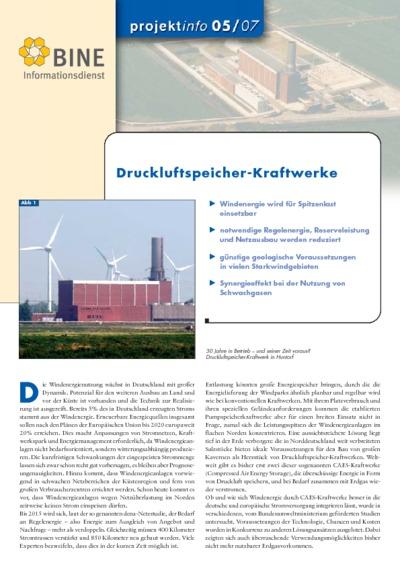 Druckluft- Speicherkraftwerke.