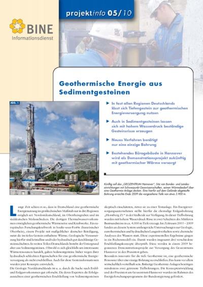 Geothermische Energie aus Sedimentgesteinen.
