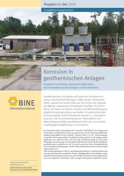 Korrosion in geothermischen Anlagen. Potsdamer Forschende untersuchen Materialien und Tiefenwässer an der Anlage in Groß Schönebeck.