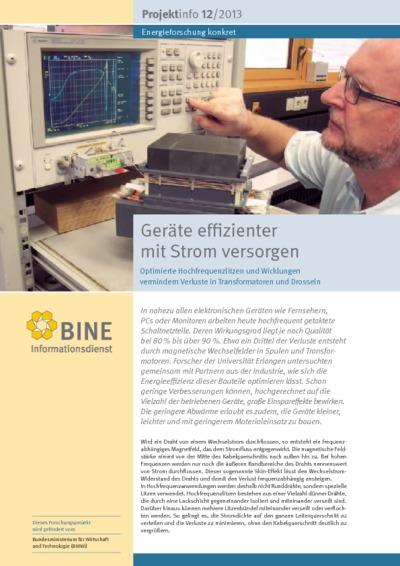 Geräte effizienter mit Strom versorgen. Optimierte Hochfrequenzlitzen und Wicklungen vermindern Verluste in Transformatoren und Drosseln.