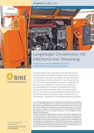 Langlebiger Dieselmotor mit elektronischer Steuerung. Leichtbauweise senkt Kraftstoffverbrauch und Schadstoffemissionen bei gleicher Leistung.